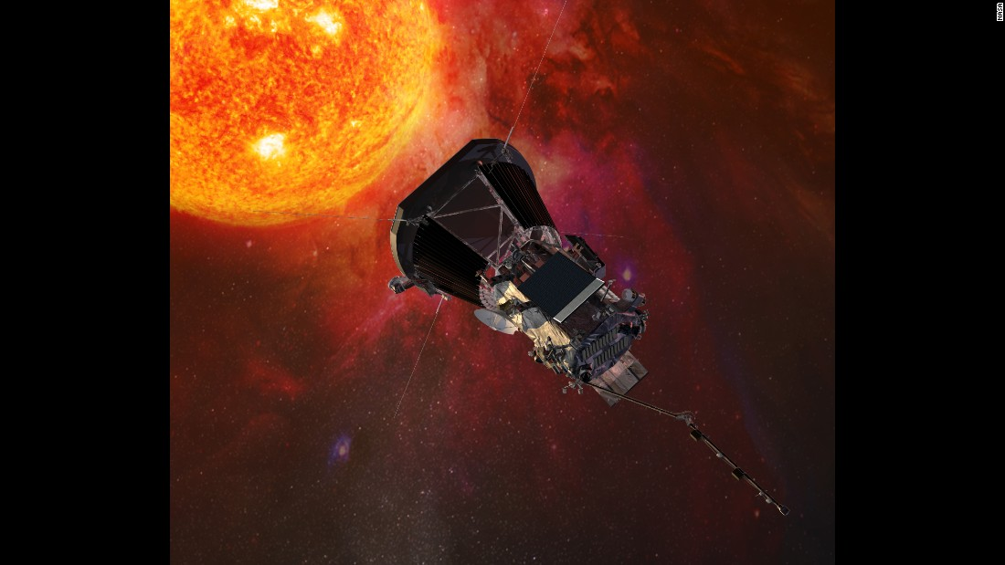 "This is an illustration of the Parker Solar Probe spacecraft approaching the sun. The NASA probe <a href=""http://www.cnn.com/2017/05/31/us/nasa-sun-mission/"" target=""_blank"">will explore the sun's atmosphere</a> in a mission that begins in the summer of 2018."