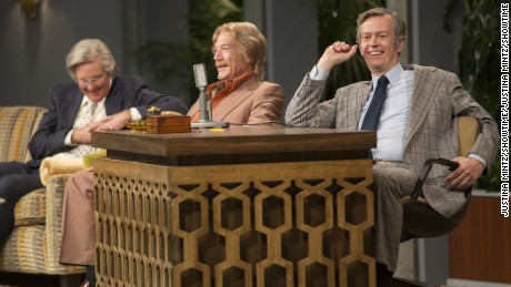 Dylan Baker (right) as Johnny Carson in 'I'm Dying Up Here'