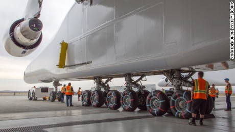 The jet's landing gear has 28 wheels