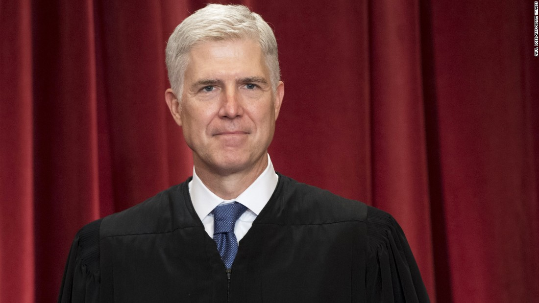 <strong>Neil Gorsuch</strong> is the court's newest member. He was chosen by President Donald Trump to replace Antonin Scalia, who died in 2016.