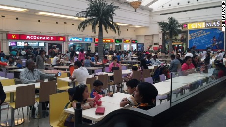 Fast food has become a staple at malls and shopping centers in New Delhi.