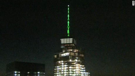 US buildings light up in solidarity with Paris climate accord