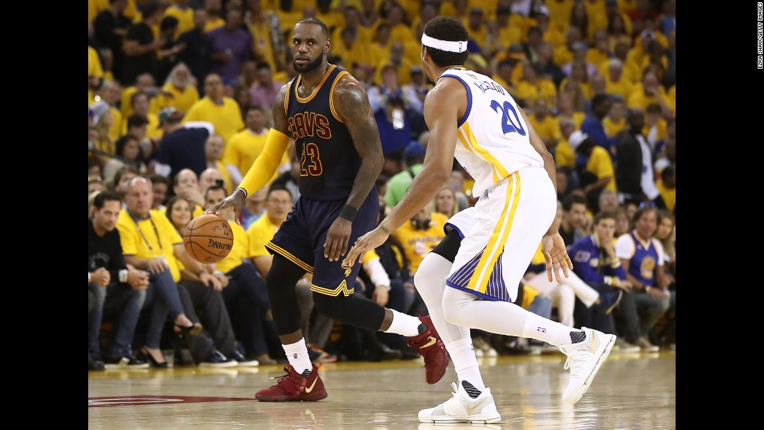 James led the Cavaliers with 28 points, 15 rebounds and eight assists in Game 1. But he also had a game-high eight turnovers.