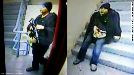 Philippine police have released these images of the heavily armed suspect in the Manila casino attack.