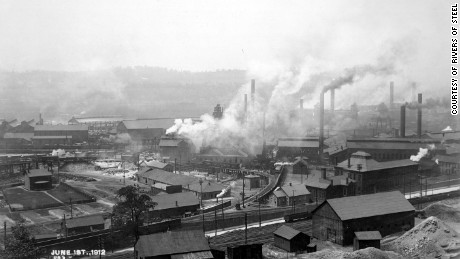 Edgar Thomson Works in Braddock, near Pittsburgh, 1912