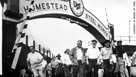 Workers at Homestead Works, Amity Gate, circa 1955