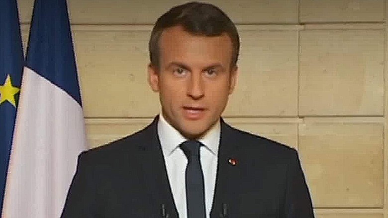 Macron stands up against President Trump Bell pkg_00010411