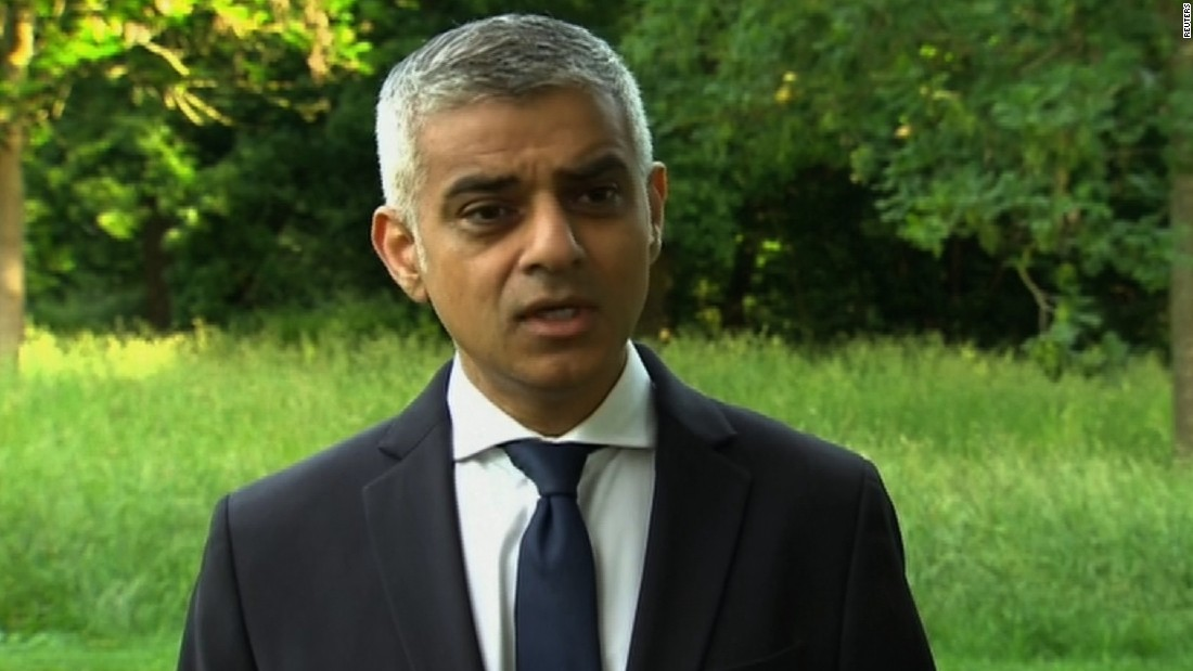 London Mayor Sadiq Khan: Don't 'roll out the red carpet' for Trump