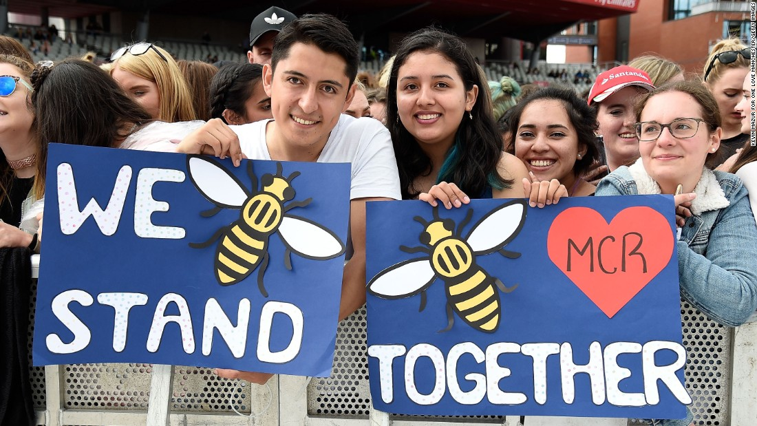 """Our response to this violence must be to come closer together, to help each other, to love more, to sing louder and to live more kindly and generously than we did before,"" Grande said."
