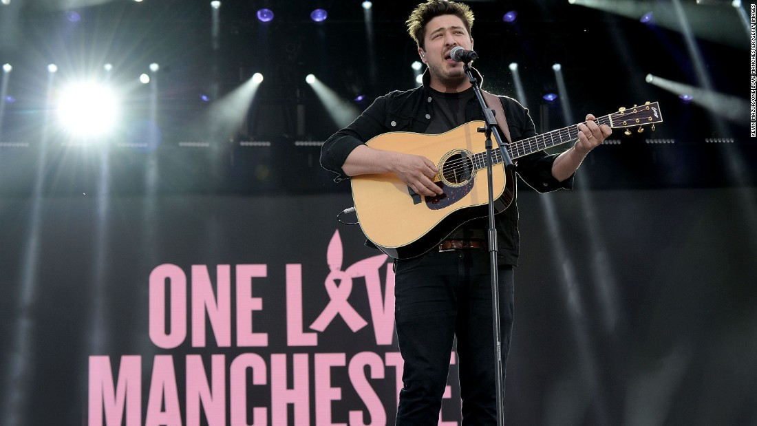 Marcus Mumford performs.