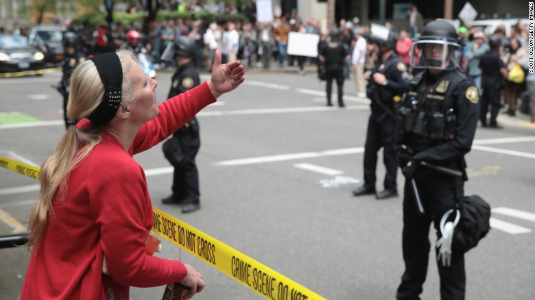 Tensions rise at Portland protests