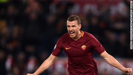 Roma forward Edin Dzeko scored 29 goals in 33 league games last season.