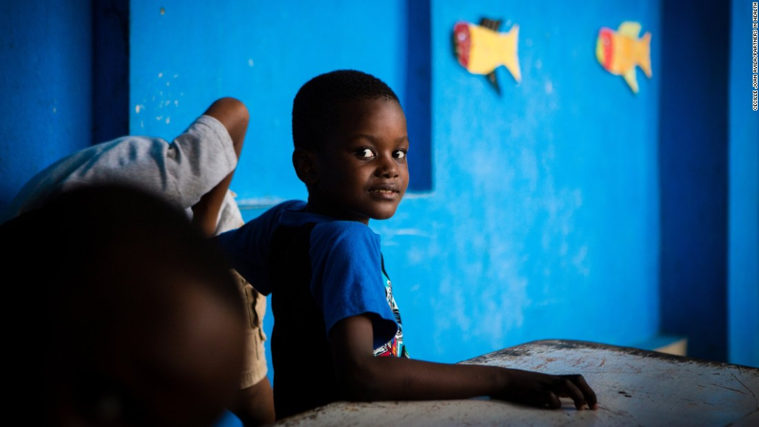 Steve Meuse, 6, is a first grader who lives in the orphanage at the Partners in Health campus in Cange, Haiti. Four years ago, he was treated for malnutrition.