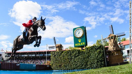 CALGARY, AB - SEPTEMBER 14: McLain Ward of the United States riding HH Carlos Z competes in the individual jumping equestrian on the final day of the Masters tournament at Spruce Meadows on September 14, 2014 in Calgary, Alberta, Canada. (Photo by Derek Leung/Getty Images)