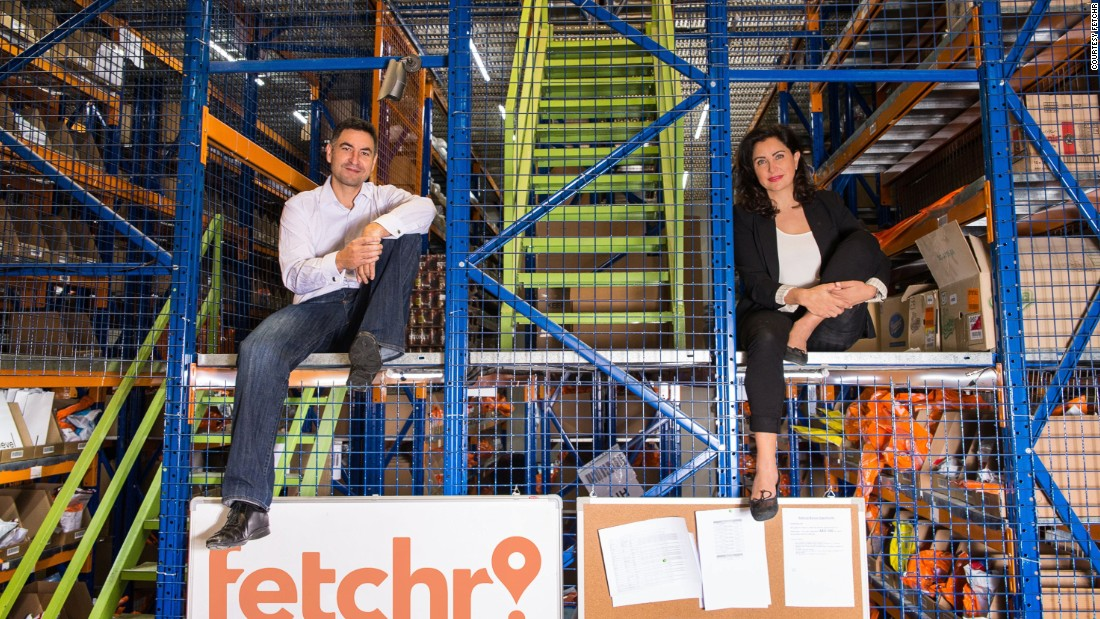 Idriss Al Rifai and Joy Ajlouny, founders of Fetchr, a Dubai-based delivery service which uses your smartphone as your location. The start up, which operates in a number of countries in the Middle East, has just received $41 million in additional investment to expand the company.