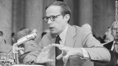 Former White House counsel John Dean testifies before the Senate Watergate committee.