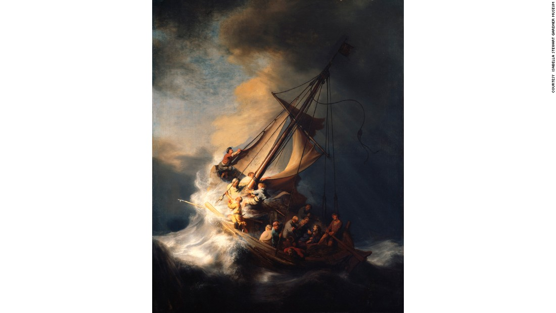 "Rembrandt's ""The Storm on the Sea of Galilee"" was one of 13 artworks stolen from Boston's <a href=""http://www.gardnermuseum.org/home"" target=""_blank"">Isabella Stewart Gardner Museum</a> in 1990, which still haven't been found. Check out the gallery for other valuable stolen artworks that authorities have yet to track down."