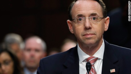 Deputy AG Rosenstein says Comey firing could be part of special counsel's probe