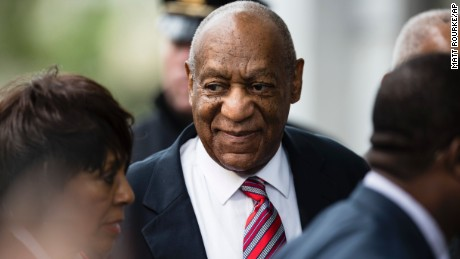 Bill Cosby arrives for his assault trial at the Montgomery County Courthouse.