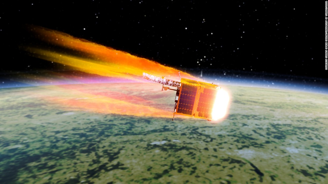 Upon re-entry into the Earth's atmosphere, the pieces of space debris will burn up.