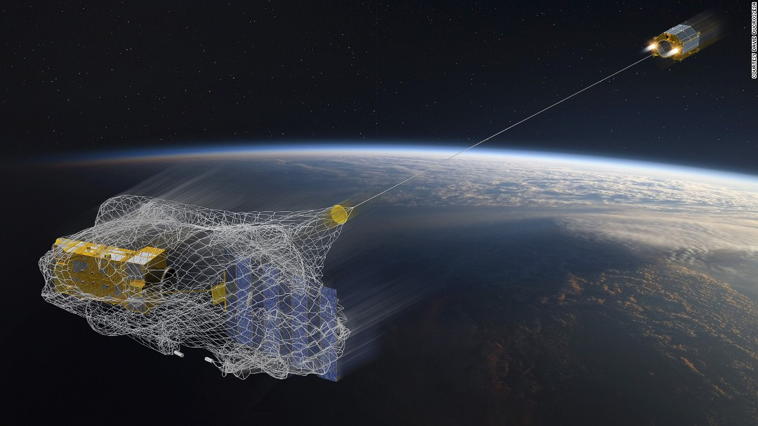 satellite catcher uses magnets to clean up space junk cnn