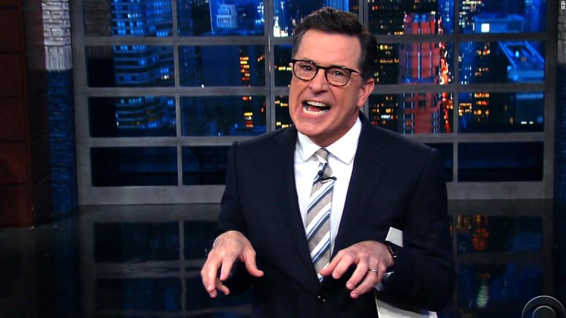 Colbert: Comey treats Trump like a T. rex