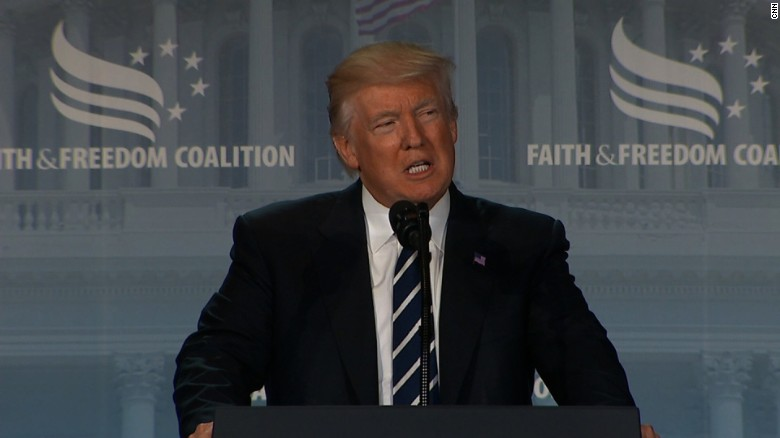 Trump to evangelists: We're under siege