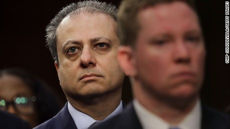 Former United States Attorney for the Southern District of New York Preet Bharara attends the Senate Intelligence Committee where FBI Director James Comey is sent to testify in the Hart Senate Office Building on Capitol Hill June 8, 2017 in Washington, DC.