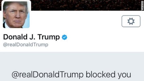 It doesn't take much for Trump to block you on Twitter