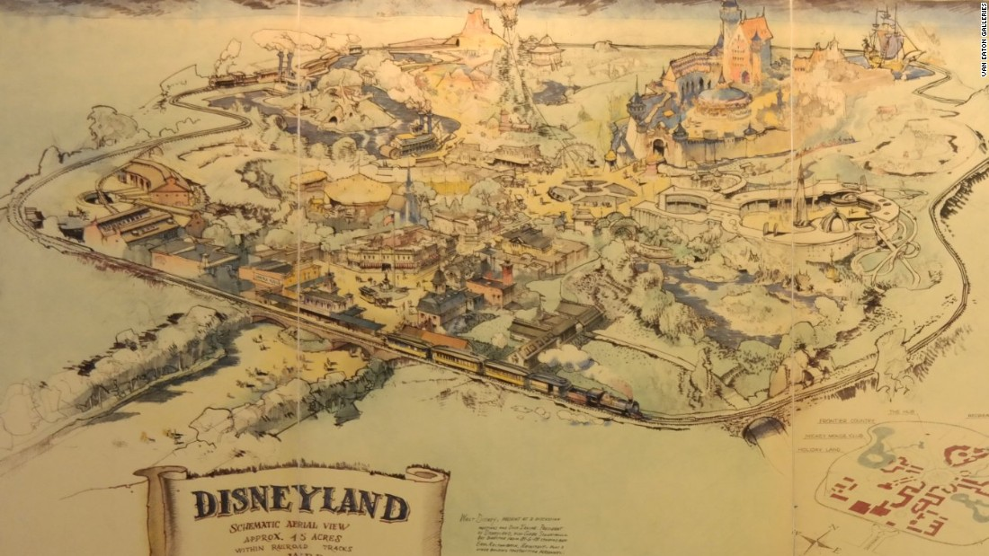 The story behind the map to Walt's kingdom