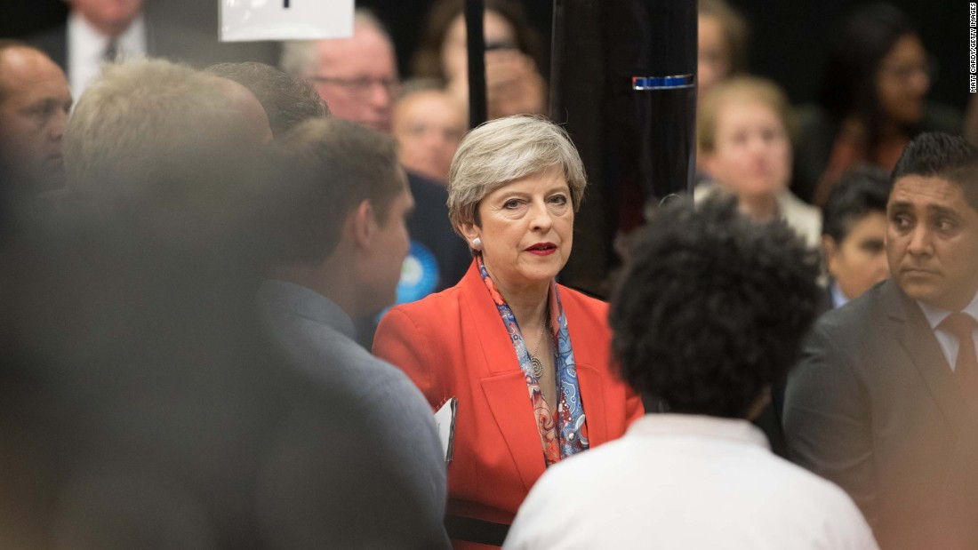 "In a speech to her constituency in Maidenhead, England, May said that ""at this time more than anything else, this country needs a period of stability."""