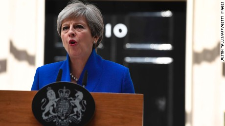 'Let's get back to work': May's full speech