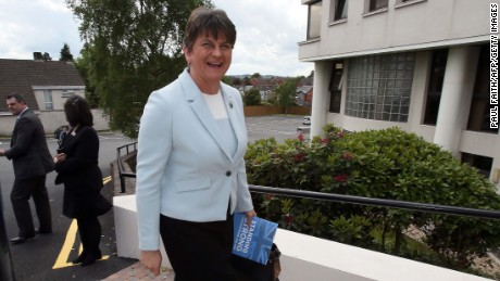 Democratic Unionist Party (DUP) leader Arlene Foster says she will speak to Theresa May.