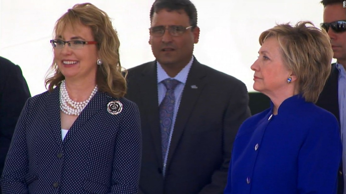 Former Rep. Giffords receives tributes at ship commissioning