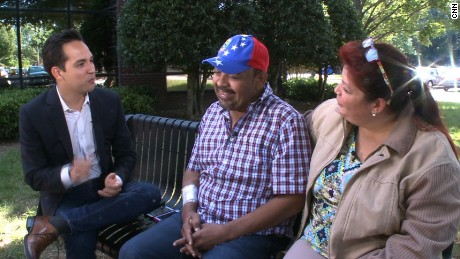 Jovaera Valero and her husband Richard Vargas sold their trucking business to get the money necessary for him to get medical treatment in the US.