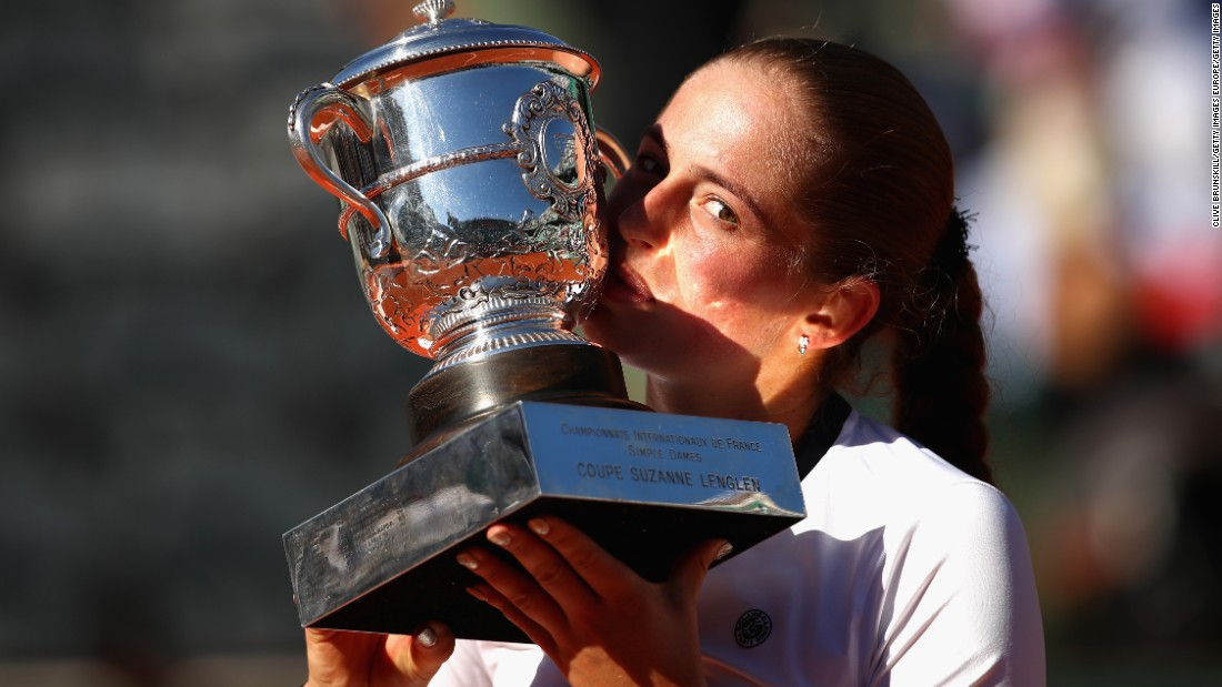 Ostapenko's first title ... came at the French Open. The Latvian became the first unseeded woman to win Roland Garros since 1933.