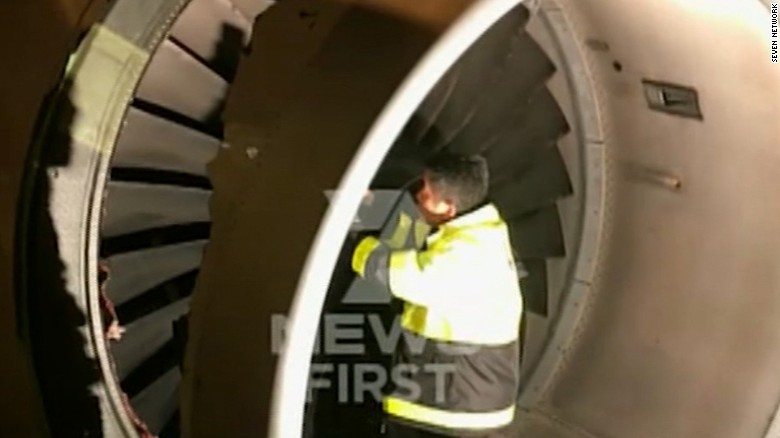 Hole torn out of jet engine forces landing
