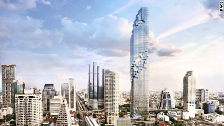 Bangkok's new Mahanakhon Tower.
