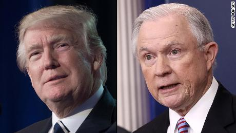 Trump rips Sessions, even as AG attends White House meeting