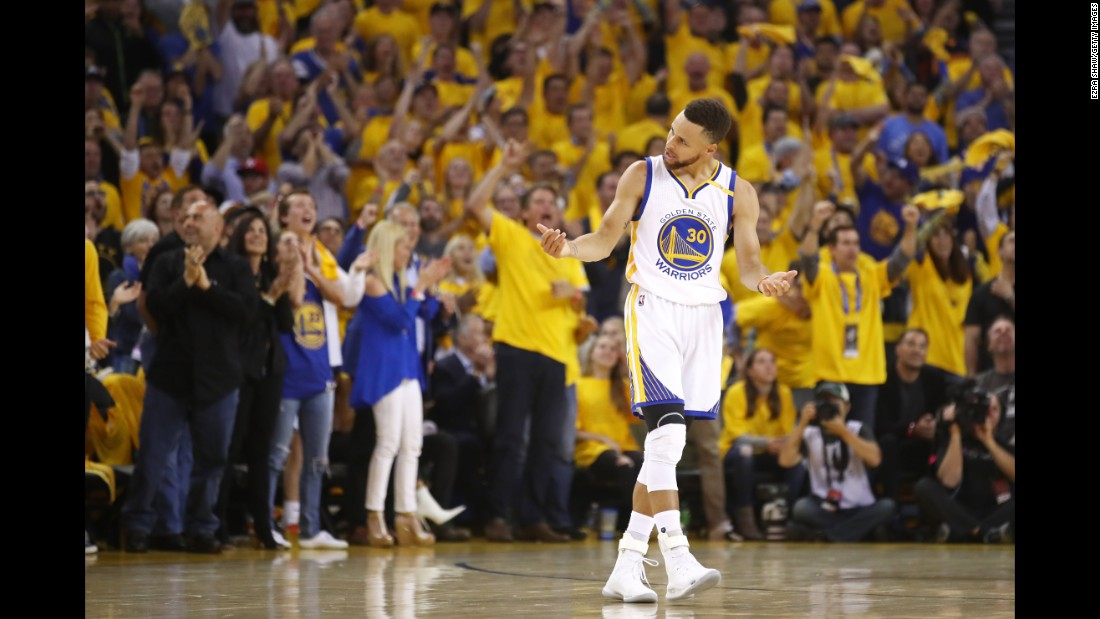 Curry had 34 points and 10 assists in Game 5.