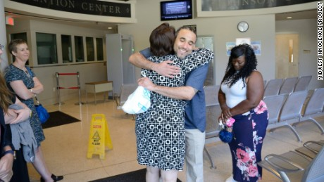 Richard Jones reunites with loved ones after he is released from prison.