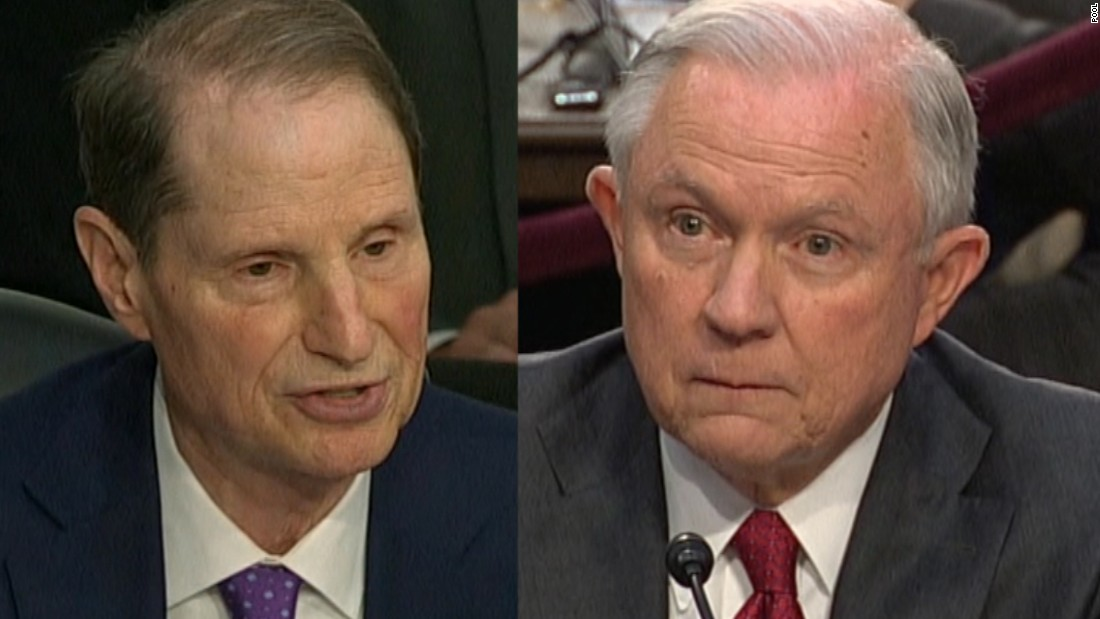 Sessions, Wyden scrap over AG's 'problematic' role