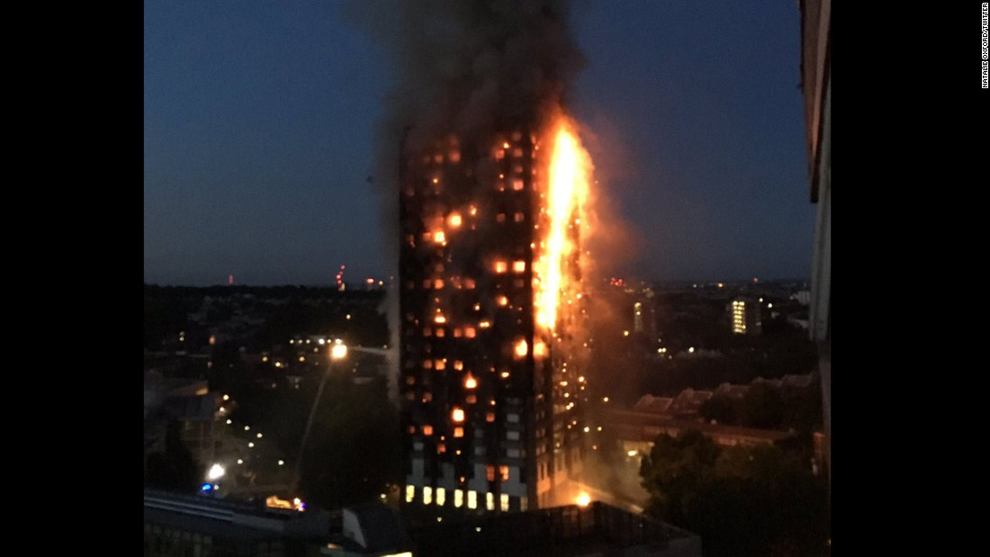 "The Royal Borough of Kensington and Chelsea activated a ""major emergency plan"" in response to the blaze."