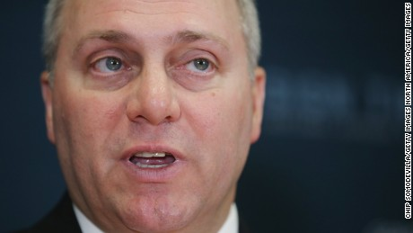 Somber Republicans miss Scalise in first post-shooting meeting