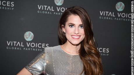 Actress and education advocate Allison Williams