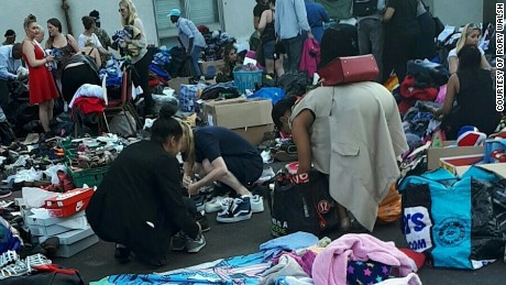 The center was inundated with donations.