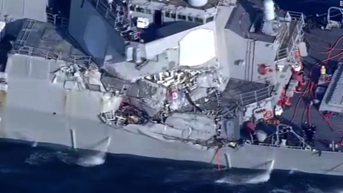 Search is on for 7 missing US sailors, cause of ship collision off Japan