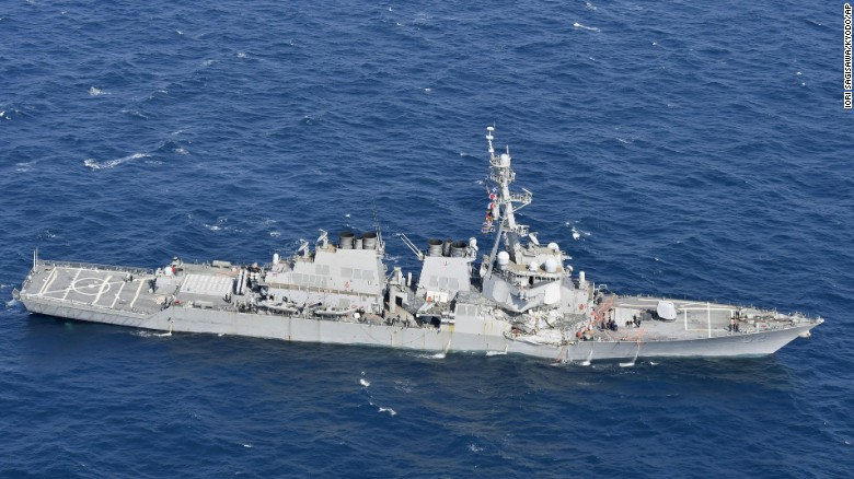 US Navy: 7 US sailors missing