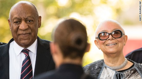 Bill Cosby arrives for his sexual assault trial with his wife Camille Cosby at the Montgomery County Courthouse in Norristown, Pennsylvania on June 12, 2017.