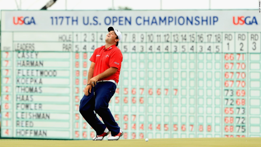 "Patrick Reed, dubbed ""Captain America"" for his inspirational Ryder Cup performances, missed a putt on the last for a 64 but finished tied seventh at eight under for the tournament."
